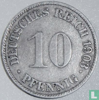 Allemagne - Empire allemand 10 pfennig 1903 (J)