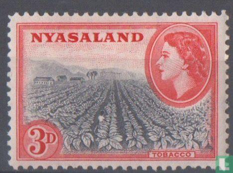 Brits Centraal-Afrika (Nyasaland) - koningin Elizabeth