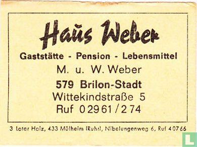 Hans Weber Gaststätte  - M.u.W. Weber