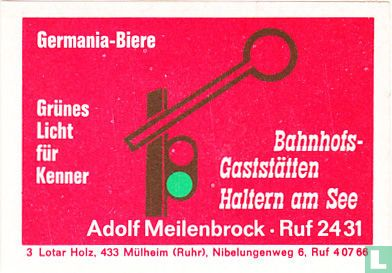 Germania-Biere - Bahnhofsgaststätten