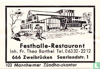 Festhalle-Restaurant - Fr. Thea Barthel