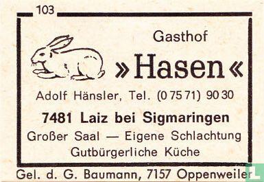 "Gasthof ""Hasen"" - Adolf Hansler"