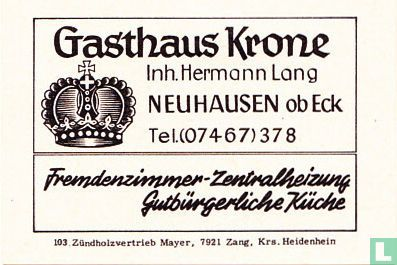 Gasthaus Krone - Hermann Lang