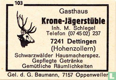 Gasthaus Krone-Jägerstüble - M. Schlegel