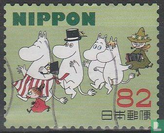 Japan [JPN] - Greeting Stamps Moomin