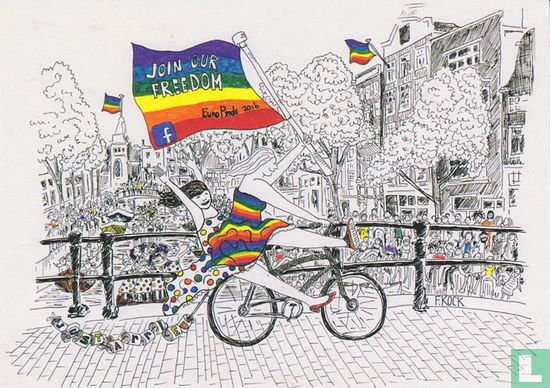 "Amsterdam - B160083 - Europride 2016 Amsterdam ""Join our freedom"""
