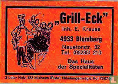 """""""Grill-Eck"""" - E. Krause"""