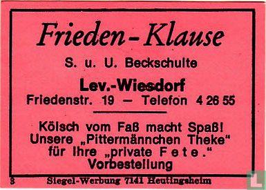 Frieden-Klause - S.u.U. Beckshulte