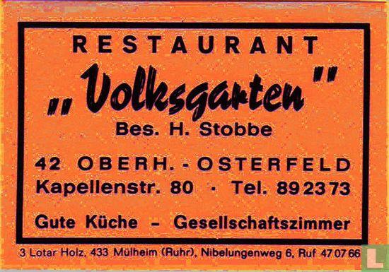 """Restaurant """"Volksgarten"""" - H. Stobbe"""