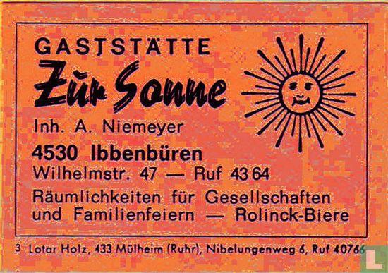 Gaststätte Zur Sonne - A. Niemeyer