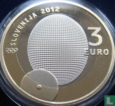 """Slovenia 3 euro 2012 (PROOF) """"100th anniversary of the first - ever Slovenian Olympic Gold Medal"""" - Image 1"""