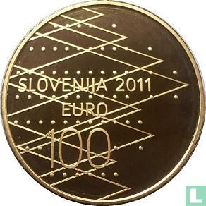 """Slovenia 100 euro 2011 (PROOF) """"Rowing World championship in Bled"""" - Image 1"""