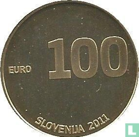 """Slovenia 100 euro 2011 (PROOF) """"20th anniversary of Independence"""" - Image 1"""