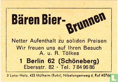 Bären Bier Brunnen - A.u.R. Tölkes