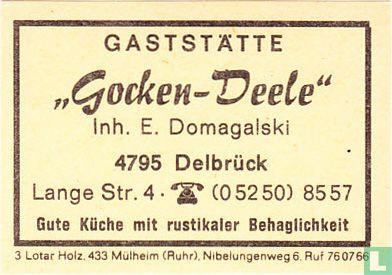 """Gaststätte """"Gocken-Deele"""" - E. Domagalski"""
