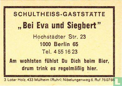 """Schultheiss-Gaststätte """"Bei Eva und Siegbert"""""""