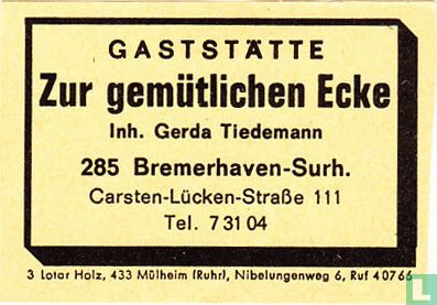 Gaststätte Zur gemütlichen Ecke - Gerda Tiedemann