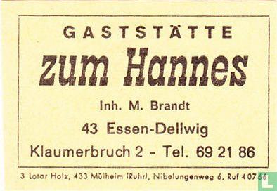 Gaststätte zum Hannes - M. Brandt