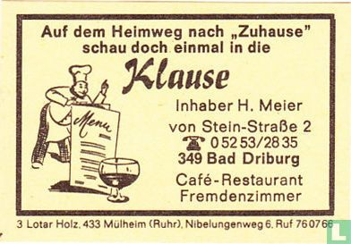 Klause - H. Meier