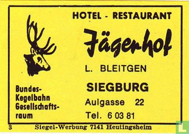 Hotel-Restaurant Jägerhof - L. Bleitgen
