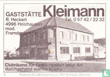 Gaststätte Kleimann - R. Heckert