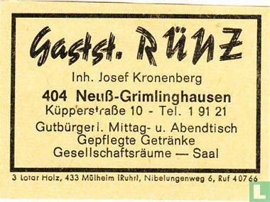 Gastst. Rünz - Josef Kronenberg