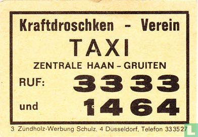 Kraftdroschken - Verein - Taxi
