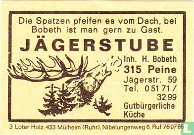Jägerstube - H. Bobeth