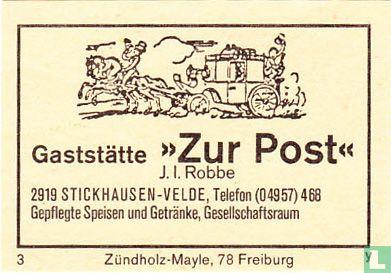 """Gaststätte """"Zur Post"""" - J.I. Robbe"""