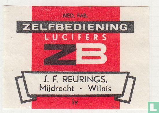 Zelfbediening lucifers ZB J.F. Reurings