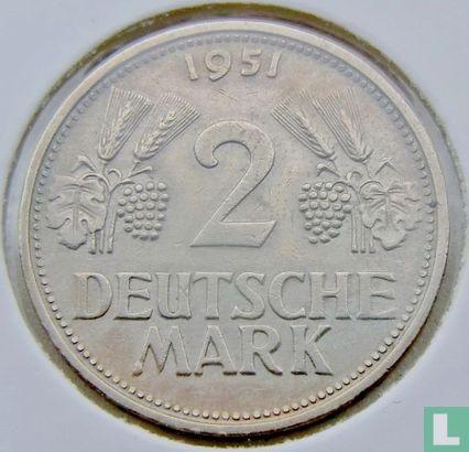 Germany - Germany 2 mark 1951 (G)