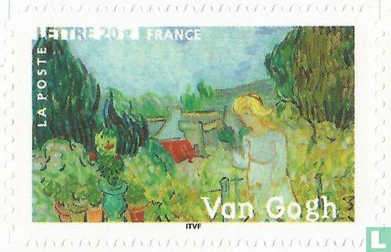 Frankrijk [FRA] - Marguerite Gachet in de tuin