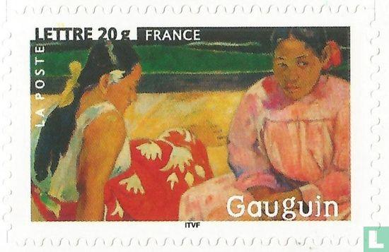 Frankrijk [FRA] - Tahitiaanse vrouwen op het strand