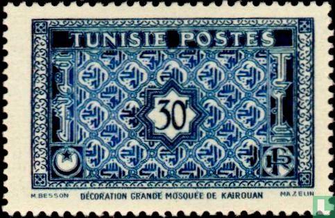 Tunesië - Decoratie in de Grote Moskee van Kairouan