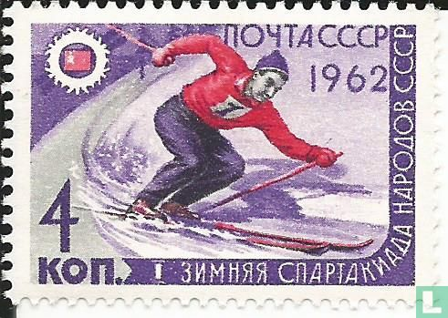 Soviet Union - 1 Soviet peoples winter sports games