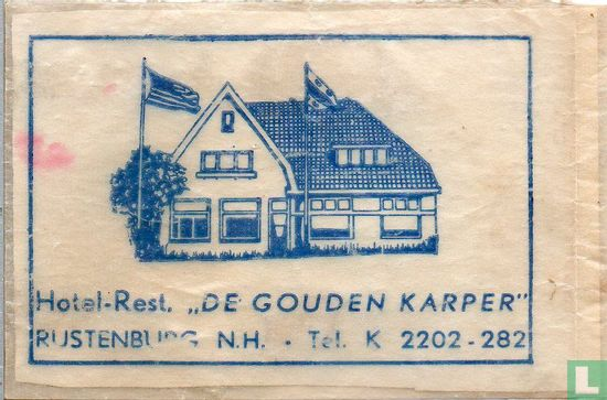 """Zakje - Hotel Rest. """"De Gouden Karper"""""""