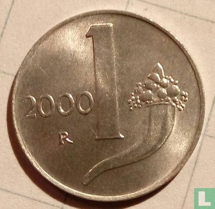 Italy - Italy 1 lira 2000