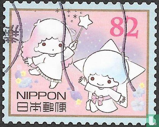 Japan [JPN] - Greeting stamps Sanrio