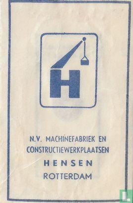 Sachet - N.V. Machinefabriek en Constructiewerkplaatsen Hensen