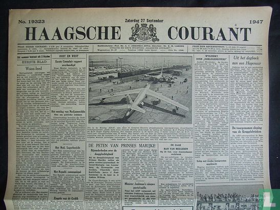 Haagsche Courant 19323 - Afbeelding 1