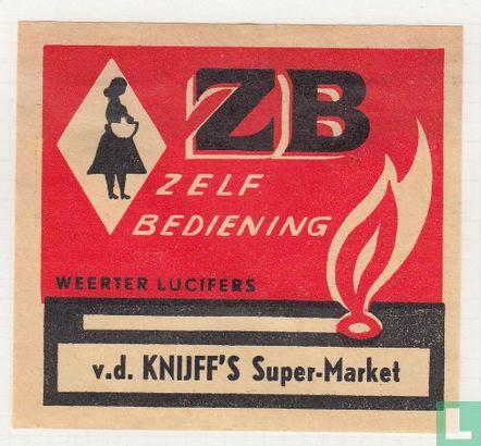 ZB zelfbediening v.d. Knijff's Super-market