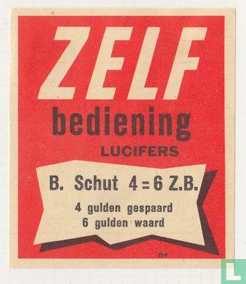 Zelf bediening B. Schut 4 = 6