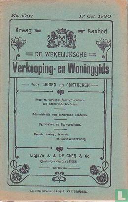 Vraag-Aanbod De wekelijksche verkooping-en woninggids voor Leiden en omstreken 1087 - Bild 1