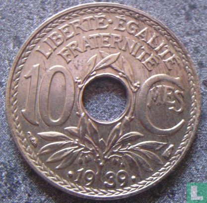 France - France 10 centimes 1939 (thin flan)