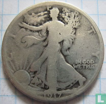 Verenigde Staten ½ dollar 1917 (zonder letter) - Afbeelding 1