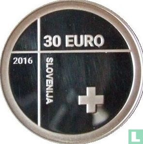 """Slovenia 30 euro 2016 (PROOF) """"150th anniversary of the Slovenian Red Cross"""" - Image 1"""