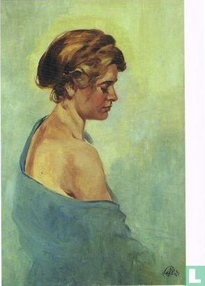 Stichting Hans G. Kresse - Portret An Zandstra, olieverf op doek, 1963
