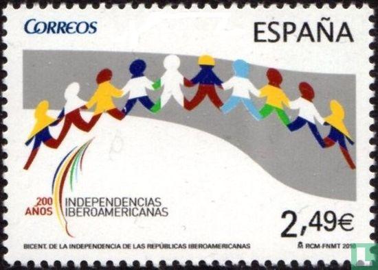 Espagne [ESP] - 200 ans d'indépendance des pays ibéro-américains