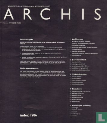 Archis Index 1986 - Image 1
