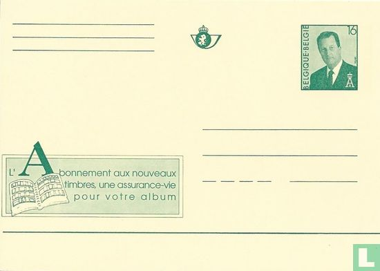 Belgium [BEL] - A Subscription for new Postage Stamps